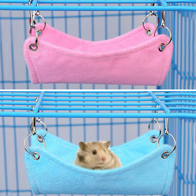 Pet Hammock Hamster Rat Parrot Ferret Hamster Hanging Bed Cushion House Cage New