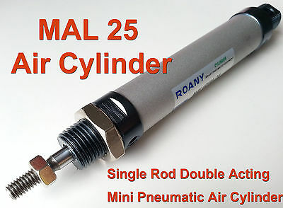 NEW MAL 25mm x 75mm Single Rod Double Acting Mini Pneumatic Air Cylinder 25x75
