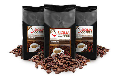 3kg FRESH ROASTED ITALIAN BLEND Coffee Beans, Strong Flavour