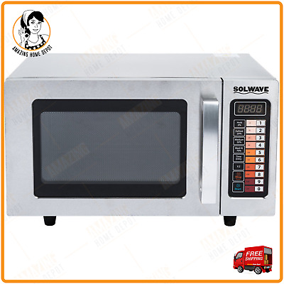 Stainless Steel 0.9 Cu.Ft Commercial Countertop Microwave Oven - 120V, 1000W