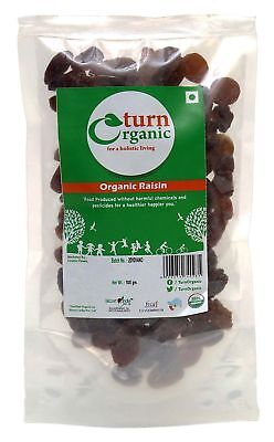 Turn Organic Chemical Free Organic Raisin, 3.52  Ounce - USDA Certified