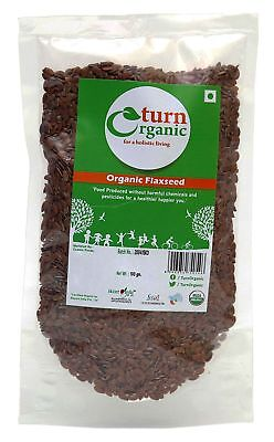 Turn Organic 100% Natural Flaxseed, 3.52 Ounce - USDA Certified