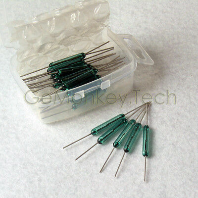 Generic New 25PCS Reed Glass Magnetic Switches N/O SPST 300VDC 3X20MM