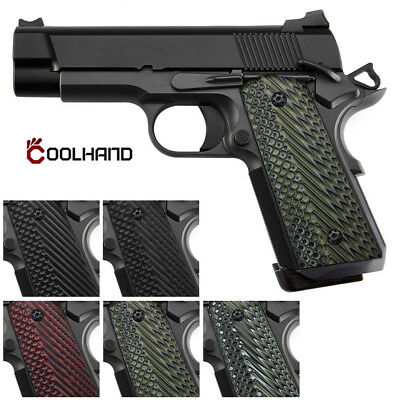 1911 COMPACT MAGWELL G10 Grips Black Ridges Texture,S,H2M