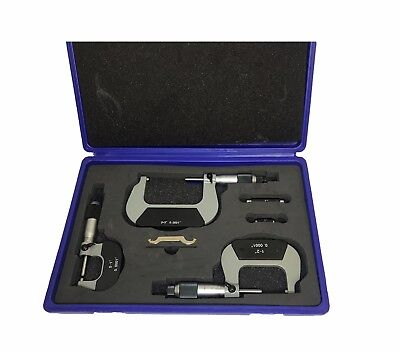 "Rdgtools New 3Pc Outside Micrometer Set Imperia 0-1"", 1-2"", 2-3"" Myford Lathes"