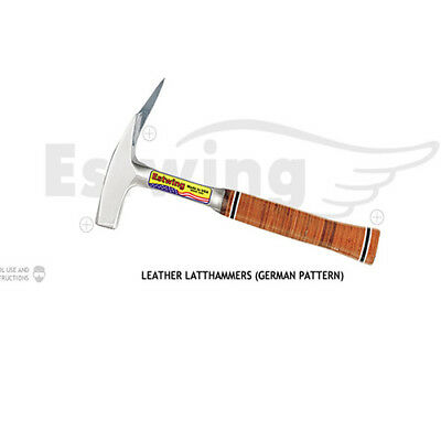 Estwing Latthammer (German Pattern) Leather Grip Roofing Hammer Smooth E239Ms