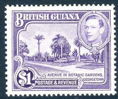 BRITISH GUIANA-1951 $1 Bright Violet Perf 14x13.  A lightly mounted mint Sg 317a