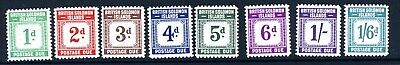 BRITISH SOLOMON ISLANDS-1940 Postage Dues.  An unmounted mint set Sg D1-D8
