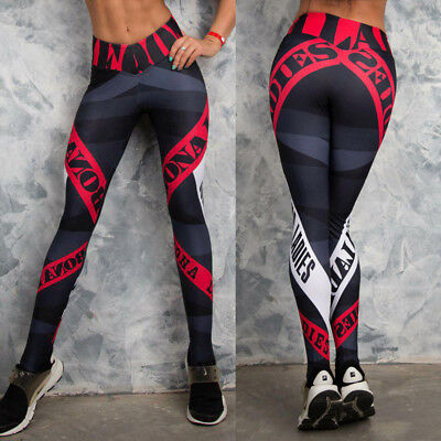 Women Yoga Gym Fitness Leggings Running Stretch Sports Pants Exercise Trousers