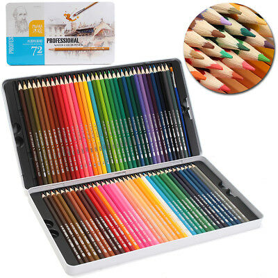 72 Colors Pencil Art Drawing Non-toxic Artist Sketch Soft Core Lead Set & Case