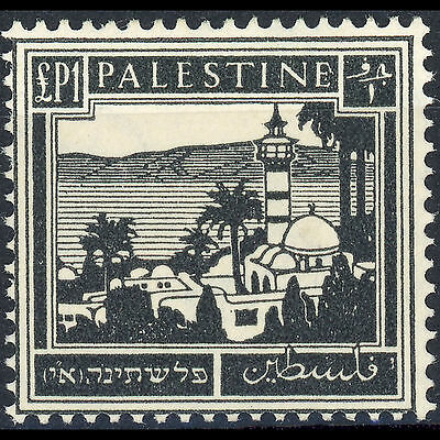PALESTINE 1932-44 £P1 Black. SG 111. Lightly Hinged Mint. (AM258)