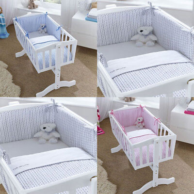 Clair de Lune Barley Bebe 2 Piece Crib/Cradle Quilt & Bumper Bedding Set