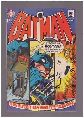 Batman # 220 This Murder Has Been ... Pre-Recorded ! grade 7.5 scarce book !!