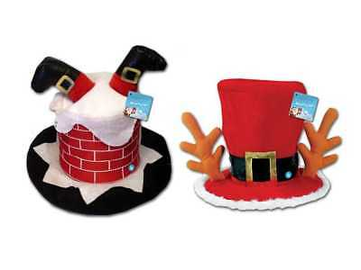 Adult Novelty Christmas Hats Shop Party Funny Men Womens Xmas Fancy Dress