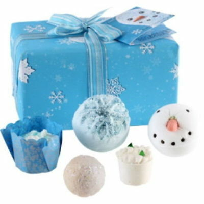Let it Snow Luxury Handmade Gift Pack Pre Wrapped Bomb Cosmetics
