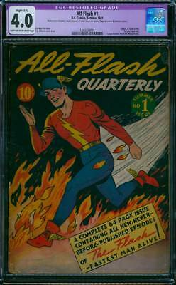 All-Flash # 1  Complete 64 Page First Issue !  CGC 4.0 scarce Golden Age book !