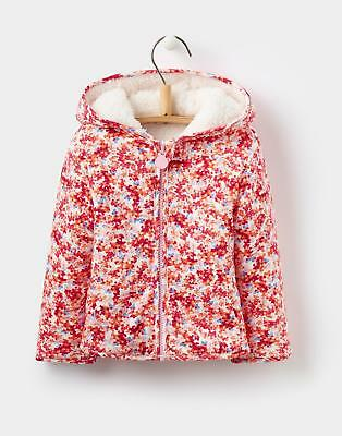 Joules Girls Cosette Reversible Fleece in 100% Cotton in Pink Cream Ditsy Print