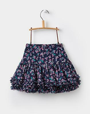 Joules Girls Lilian Tutu Skirt 1-6 yrs in French Navy Winter Ditsy Floral Print