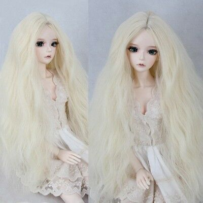 "8-9"" BJD Doll 1/3 SD DZ DOD LUTS Corn Wavy Curly Hair Blonde Long Halloween Wig"
