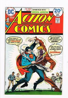 Action Comics # 431 Monster Who Unmasked Superman ! grade 8.0 scarce book !!