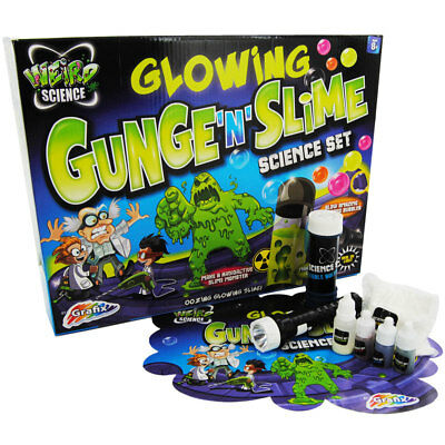 Grafix Glowing Gunge Slime Weird Science Set Kids Fun Experiments Kit 44-0025