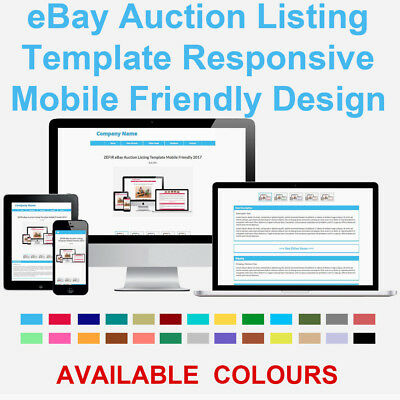 Blue eBay Auction Listing Template Responsive Image Photo Gallery 2018 ZEFIR