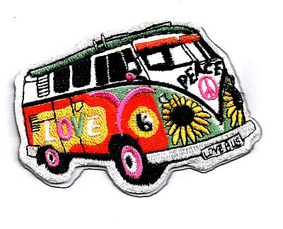 Peace Hippie Bus Embroidered Patch Sew On Iron On 9x6.5