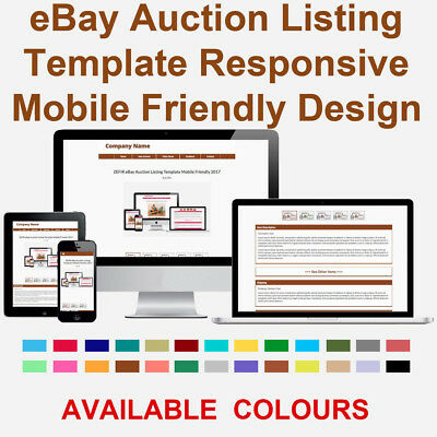Brown eBay Auction Listing Template Responsive Image Photo Gallery 2018 ZEFIR