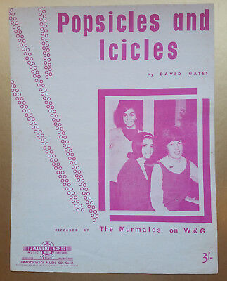 The Murmaids – Popsicles and Icicles Original 1963 Australian issue Sheet Music