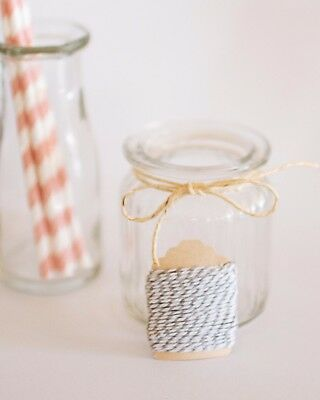 White & Grey Bakers Twine 5m   Cotton Baker's   Wedding   Favours   DIY   Craft