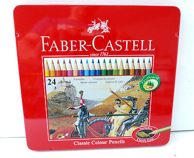Faber Castell  24 Stück Buntstifte  Farbstifte Classic Color Metallbox