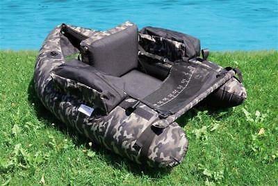 Lineaeffe Belly Boat Camou Camouflage Belly Boat Boot inkl. Pumpe Bellyboot NEU