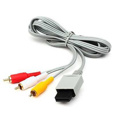 Cable de TV AV 3 RCA Video y Audio Compuesto para Consola Nintendo Wii WiiU U