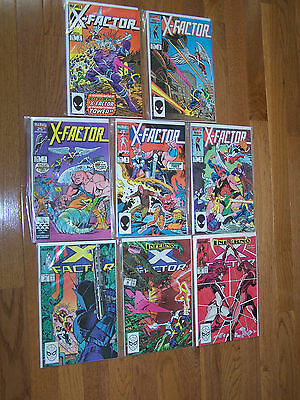 Lot of Eight (8) Marvel X-FACTOR Comics Comic Books 1980's Vol. 1 Nos. 2,3,7....