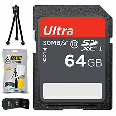 64GB SD Memory Card for Nikon D3400, D3300, D3200, D3100