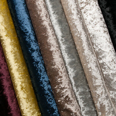 Swatches Crushed Velvet Upholstery Sofa Curtain Fabric Material Fire Retardant