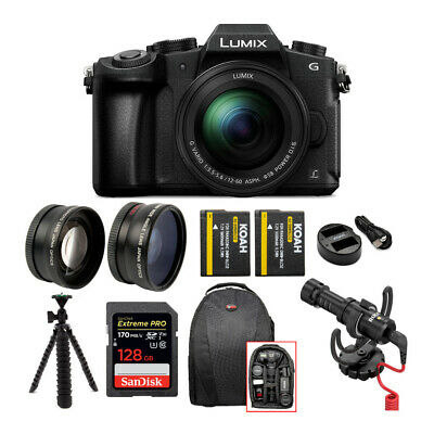 Panasonic LUMIX G85 Mirrorless Camera w/ 12-60mm Lens & Rode Microphone Bundle