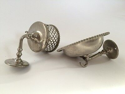 antique bathroom cup soap holder | silver & co victorian bath cup soap holder