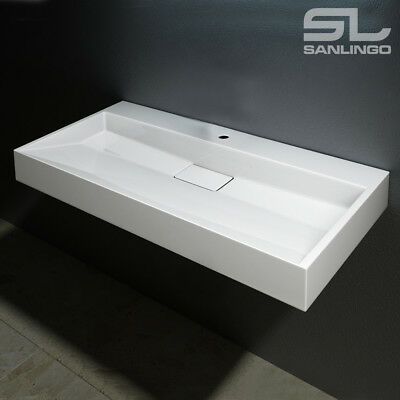 Design Washbasin Bathroom Sink Wall or Counter Montage Different Sizes Sanlingo