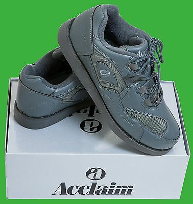 ACCLAIM Maestro Light Lace Up Sports Trainer Style Grey Bowls Bowlers Shoes