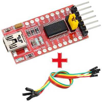 FT232RL FTDI USB a TTL Conversor Serial 3,3-5V Arduino Pro Mini + cable Modulo