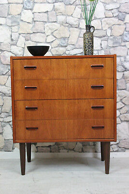 60er TEAK KOMMODE HIGHBOARD DANISH DESIGN 60s CHEST