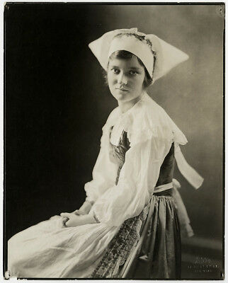 Stage & Screen Star Peggy Wood Vintage 1919 Broadway Theatre Costume Photograph