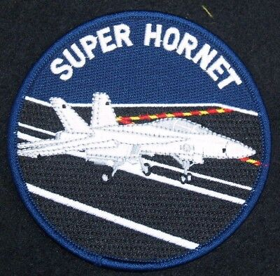 US NAVY F-18  SUPER HORNET Patch   4 inch round patch