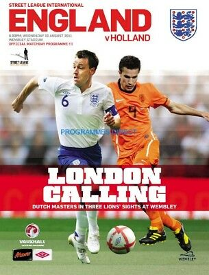 ENGLAND v HOLLAND 2011 MINT PROGRAMME CANCELLED POSTPONED
