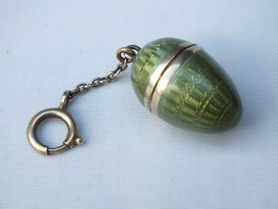 Antique Imported Silver Gilt Guilloche Enamel Russian Imperial Egg Locket