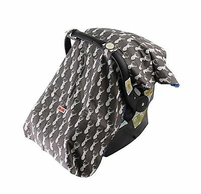 Baby Car Seat Cover For Boys By Danha  Carseat Canopy  Gray Color With Deer H...
