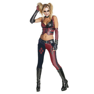 Harley Quinn Arkham Costume Deluxe Harley Quinn Arkham Fancy Dress Movie Costume