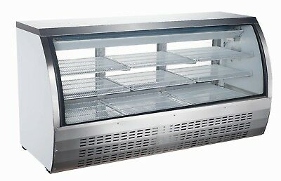 "Curved Glass 82"" Refrigerated Deli Case"