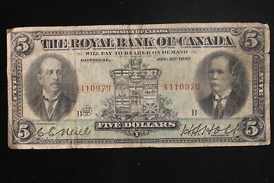 "1913 Canada. ($5) Five Dollars. ""The Royal Bank of Canada"". (#3)"